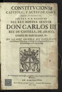 5 DE DESEMBRE DE 1705 Comencen les darreres Corts Catalanes presidides per Carles III @ Fossar de les Moreres